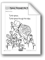 Tiptoe Through the Tulips (letter/sound association for 't')