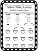 Tiptoe, Walk, and Jump Mini-Composition - Worksheet for Lo