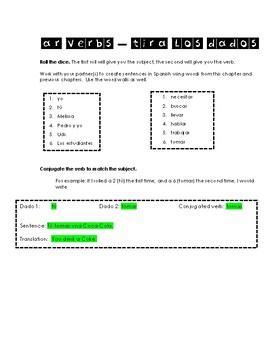 Tira los dados - AR conjugation