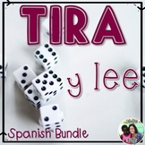 Tira y lee - Roll and Read Spanish letters and syllables *Bundle*