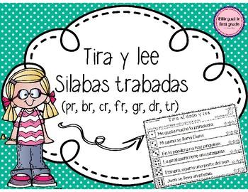 Tira y lee silabas trabadas - Set 1