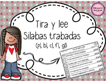 Tira y lee silabas trabadas - Set 2