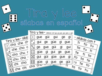 Tira y lee - sílabas (Roll and Read Spanish Syllables)