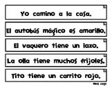 Tiras de Oraciones Cortas Nivel Avanzado - Spanish Sentenc