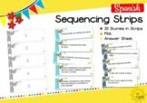 Tiras de Secuencia. Spanish Sequencing Strips.