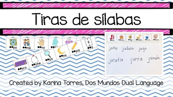 Tiras de Sílabas (Spanish syllable-sound strips)