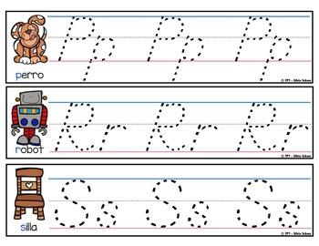Tiras de escritura de letras para los más pequeños - D'Nealian