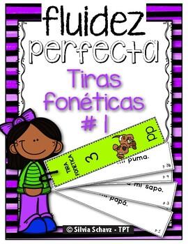 Puedo leer con fluidez - Tiras fonéticas # 1 (Mm, Ss, Pp,