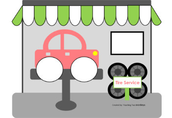 Tire Service Letter Match Interactive File Folder Activity