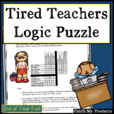 End of Year Activities : Logic Puzzle or Brainteaser Befor
