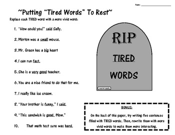 """Tired Words Cemetery"" Putting Over-used Words to Rest"