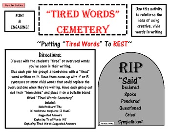 """""""Tired Words Cemetery"""" Putting Over-used Words to Rest"""