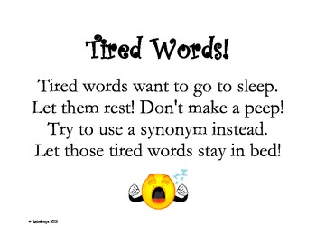 Tired Words sign