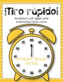 ¡Tiro rápido! (Rapid Fire) - Present Tense Verbs
