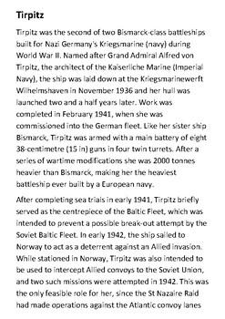 Tirpitz Handout
