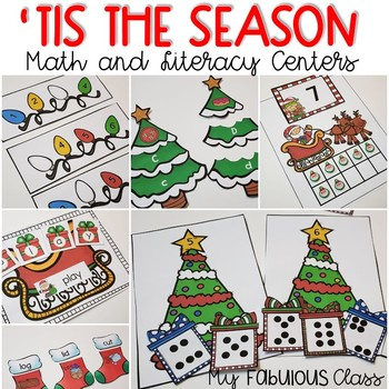 'Tis the Season - Christmas Math and Literacy Centers for Kindergarten