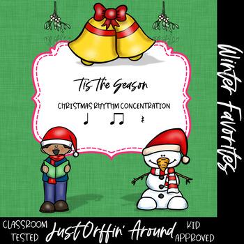 Tis the Season - Christmas Rhythm Concentration - ta; titi; rest