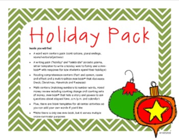 'Tis the Season: Multi-Cultural Holiday Literacy and Math Activities