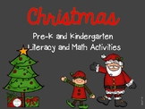 Christmas Pre-K and Kindergarten Literacy and Math Activities