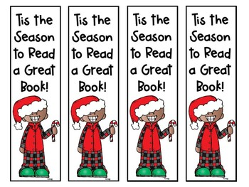 Tis the Season to Read a Great Book! Holiday Bookmarks -Melonheadz- Color & B&W