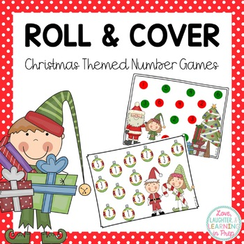 Tis the Season to Roll and Cover! Christmas Themed Math Work