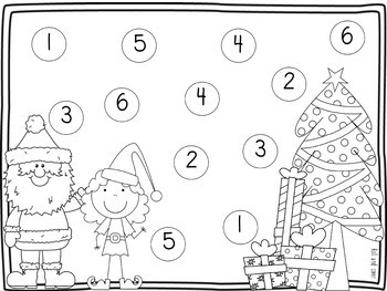Christmas Math Center {Roll and Cover}