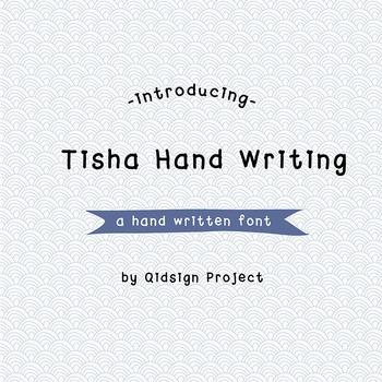 Tisha Hand Writing Digital font-hand written font