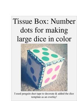 Tissue Box Dice-Color and B&W