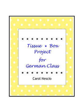Tissue * Box Project For German Class