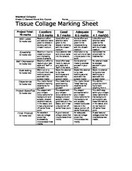 Tissue Collage Marking Sheet