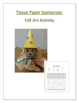 Tissue Paper Scarecrow:  Fall/Halloween Art Activity