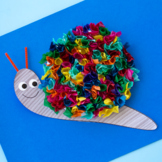 Tissue Paper Snail Craft (Spring and Summer)