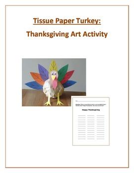 Tissue Paper Turkey: Thanksgiving Art Activity