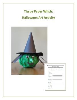 Tissue Paper Witch:  Halloween Art Activity