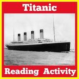 Titanic Activity | Titanic Article | The Titanic Reading Passage