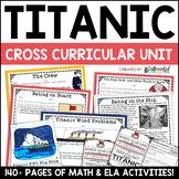 Titanic Digital and Printable Math and ELA Activities Bundle Mega Unit