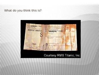 Titanic Artifact Find