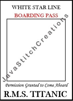 Titanic Boarding Pass Frame Clip Art