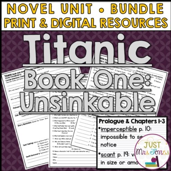Titanic Unsinkable Novel Unit