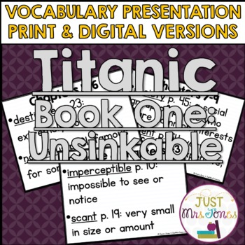 Titanic Unsinkable Vocabulary Presentation
