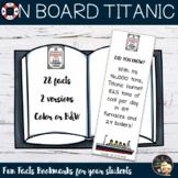 Titanic Bookmarks Fun Facts