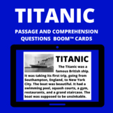 Titanic  Boom™ Cards™ passage and questions -digital