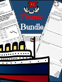 Titanic Bundle: Centers & Lessons