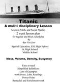 Titanic Buoyancy Two Week Lesson Plan