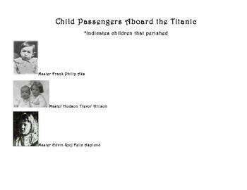Titanic Child Passenger Boarding Passes