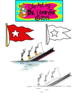 Titanic Clip Art for Personal or Commercial Use