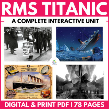 Titanic Digital Notebook: Independent Interactive Unit (PBL) DISTANCE LEARNING