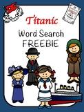 Titanic FREEBIE Word Search