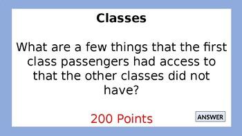 Titanic Jeopardy