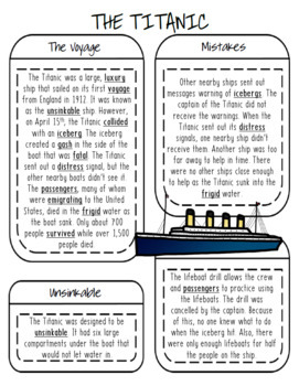 Titanic Language Activity